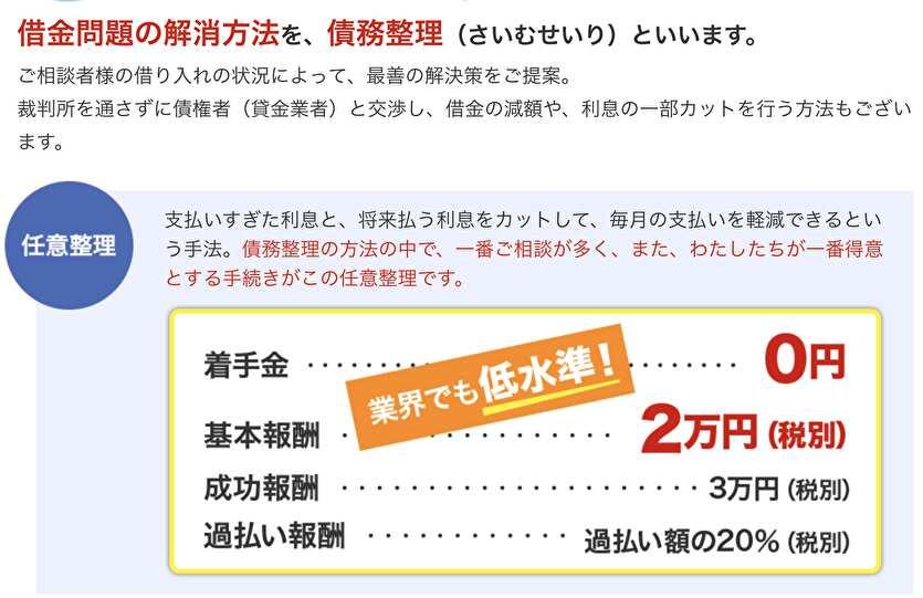 新大阪法務司法書士事務所の料金体系