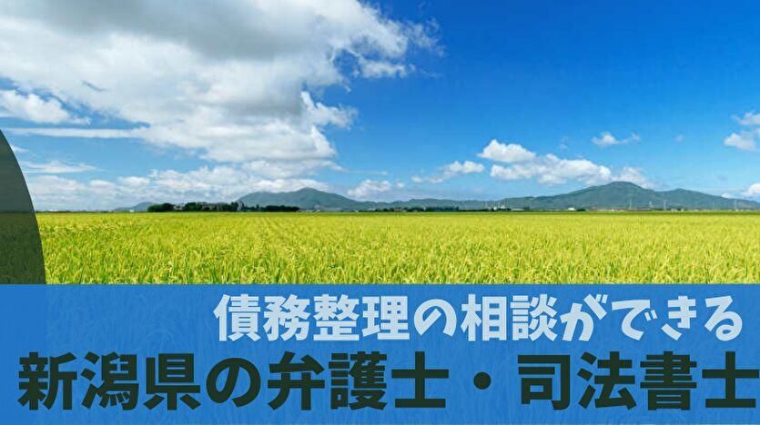 債務整理の相談ができる新潟県の弁護士・司法書士一覧
